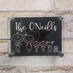 Personalised Character House Plaque