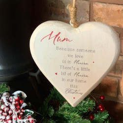 Personalised Christmas Chubby Heart