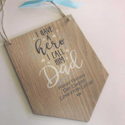 Image of Personalised Wooden Dad Plaque