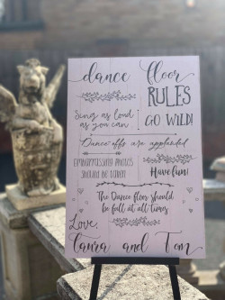Personalised Dance Floor Rules Sign