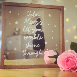 Personalised Engraved Mirror Frame ***NOT GUARANTEED FOR MOTHER'S DAY***