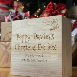 image of personalised engraved christmas eve box