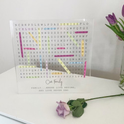 Personalised Family Word Search Acrylic Block - Extra Large