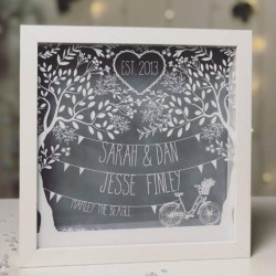 Paper Cut Style Family Frame