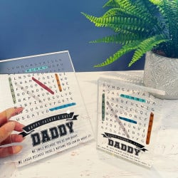 Fathers day acrylic block