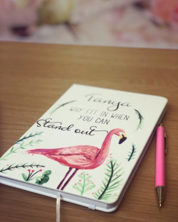 Image of Personalised Flamingo Notebook