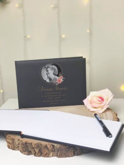 Personalised Floral Frame Remembrance Guestbook