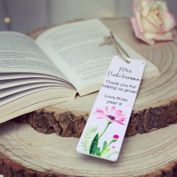 Personalised Teacher Flower Bookmark