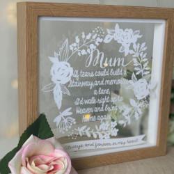 Paper Cut Style Personalised Remembrance Wreath Frame