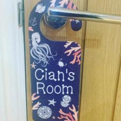 Personalised Ocean Theme Door Hanger