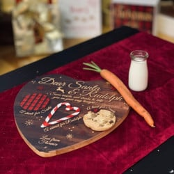Personalised Wooden Santa Treat Board