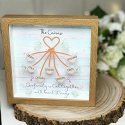 Personalised Heart Strings Frame