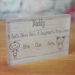 A Sons First Hero a daughters first love plaque
