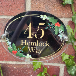 Personalised Holly House Plaque