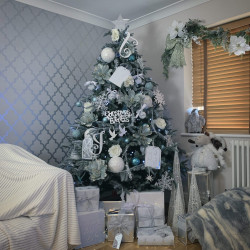 Icy Blue Tree Decoration Bundle