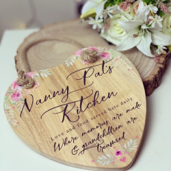 Image of Floral Wreath Heart Shaped Board