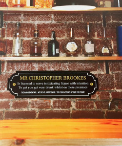 Personalised Landlord Bar Sign