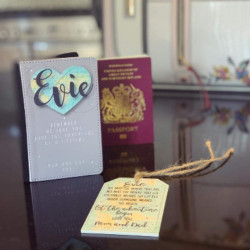 Personalised Map Passport Cover And Luggage Tag Set