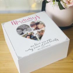 Personalised Wooden Mother's Day Photo Jigsaw Keepsake Box