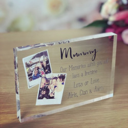 Image of Personalised Photo Acrylic Block