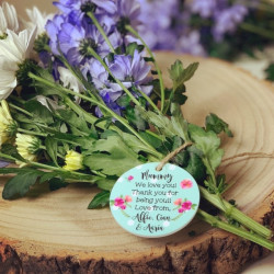 Image of a personalised flower tag