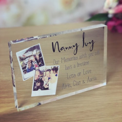 Image of Personalised Photo Acrylic Block