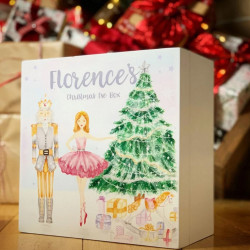 Personalised Hand Drawn and Hand Painted Nutcracker White Christmas Eve Box - PRE ORDER FOR NOVEMBER DELIVERY