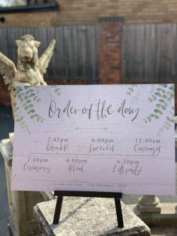Personalised Eucalyptus Wedding Order Of The Day Sign