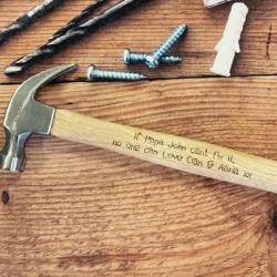 Personalised 16oz Claw Hammer (Childlike Font)