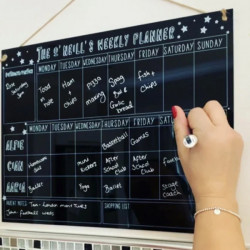Personalised Black Doodle Family Planner