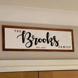 Personalised Family Established Sign