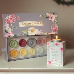 Personalised Floral Tea Light Holder - Grandma