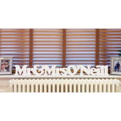 Personalised Freestanding LARGE Mr & Mrs Plaque 0