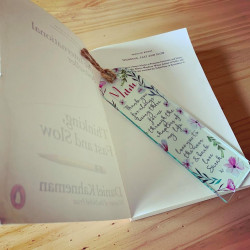 image of a personalised acrylic bookmark
