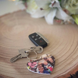 Personalised Heart Photo Keyring (BUY ONE GET ONE FREE) ***NOT GUARANTEED FOR MOTHER'S DAY***