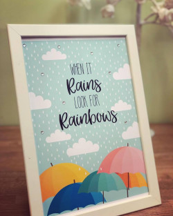Image of Raining Rainbows Personalised Print