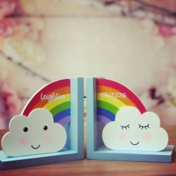 Image of Personalised Rainbow Theme Bookends