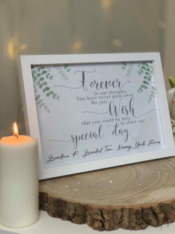 Personalised Remembrance Wedding Frame Print