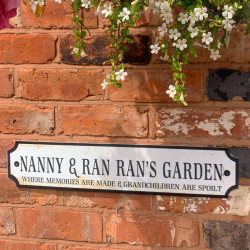 Personalised Rustic Effect Train/street Sign