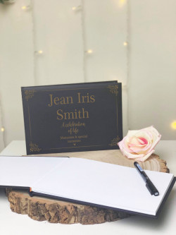 Personalised Decorative Remembrance Guestbook