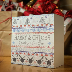 Personalised White Nordic Theme Christmas Eve Box - PRE ORDER FOR DECEMBER DISPATCH