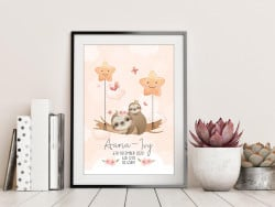 Personalised Baby Sloths DIGITAL PRINT