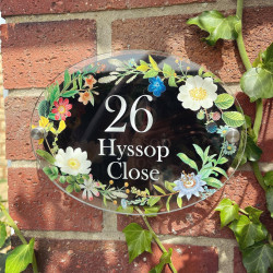Personalised Spring Flowers House Plaque