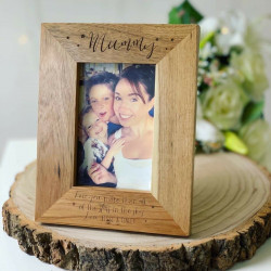 Personalised Oak Frame Star Design