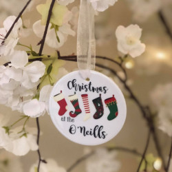 Personalised Christmas Tree Decoration - Christmas At The.. Stockings (BUY ONE GET ONE FREE)