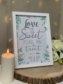 Personalised Love Is Sweet Wedding Frame Print