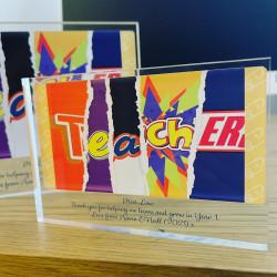 Personalised TEACHER BAR Acrylic Block