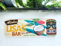 Personalised TIKI bar sign