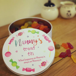 Personalised Pink Sweets Treat Tin