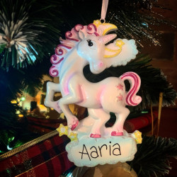 Personalised Unicorn Hanging Decoration